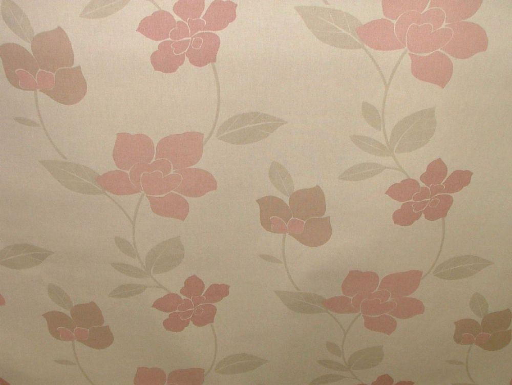 Exc Ashley Wilde Carmello Shell Floral Curtain Upholst